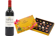 Mother's Day: Bordeaux Chateaux Red Wine and Godiva Carnival Chocolates set