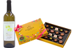 Mother's Day: Spring French White Wine and Godiva Carnival Chocolate gift set