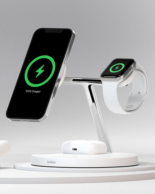 BOOST↑CHARGE™ PRO 3-in-1 Wireless Charger with MagSafe 15W